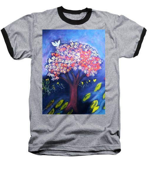 Baseball T-Shirt featuring the painting Joy by Winsome Gunning
