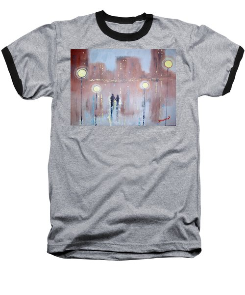 Baseball T-Shirt featuring the painting Joyful Bliss by Raymond Doward