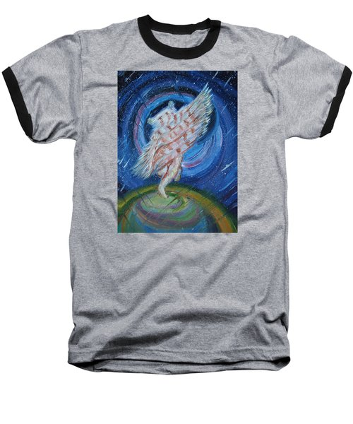 Baseball T-Shirt featuring the painting Joyfully My Father Comes To See Me by Dawn Senior-Trask