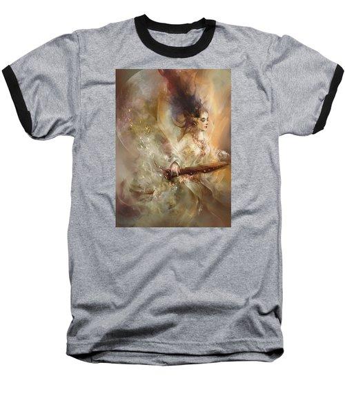 Baseball T-Shirt featuring the digital art Joyment by Te Hu