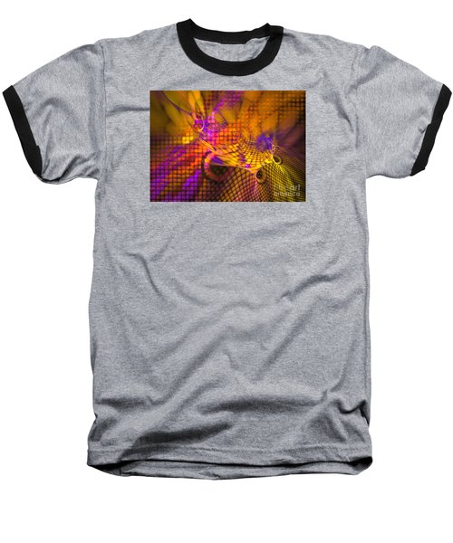 Baseball T-Shirt featuring the digital art Joyride - Abstract Art by Sipo Liimatainen