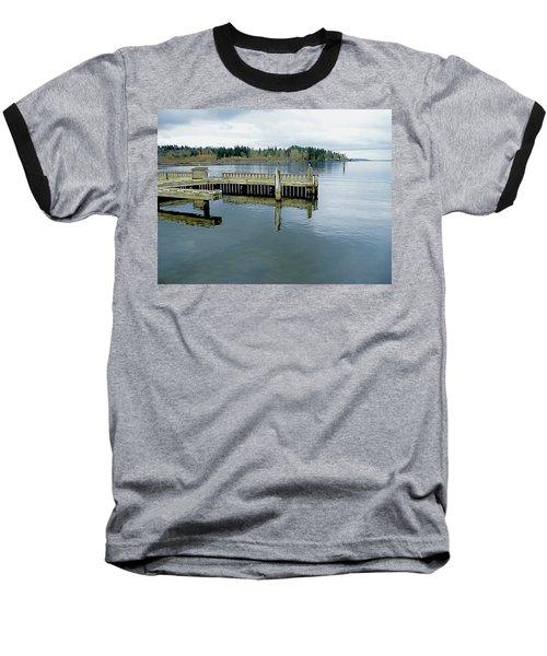 Juanita Bay In Gray Baseball T-Shirt