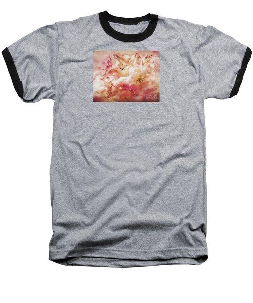 Jubilee Blush Baseball T-Shirt by Jean OKeeffe Macro Abundance Art