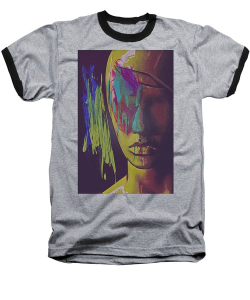 Baseball T-Shirt featuring the digital art Judgement Figurative Abstract by Galen Valle