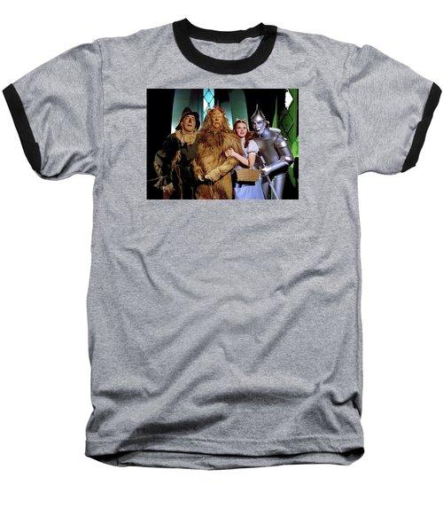 Judy Garland And Pals The Wizard Of Oz 1939-2016 Baseball T-Shirt by David Lee Guss