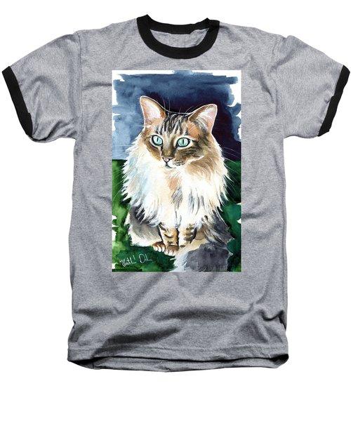 Juju - Cashmere Bengal Cat Painting Baseball T-Shirt