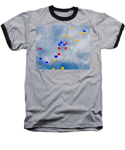 Julian Assange Balloons Baseball T-Shirt