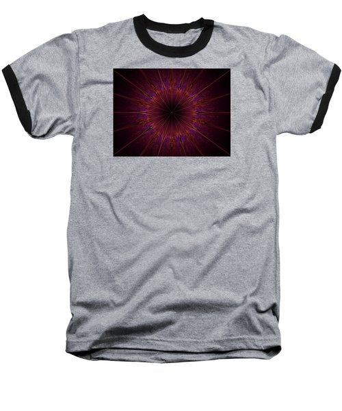 The Violet Blessings Of The Crown Chakra Baseball T-Shirt by Ernst Dittmar