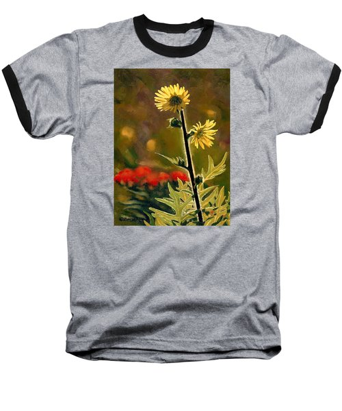 July Afternoon-compass Plant Baseball T-Shirt by Bruce Morrison