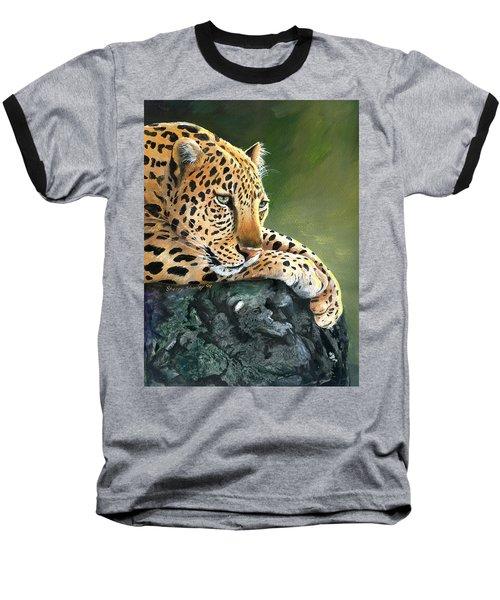 Baseball T-Shirt featuring the painting Jumanji by Sherry Shipley