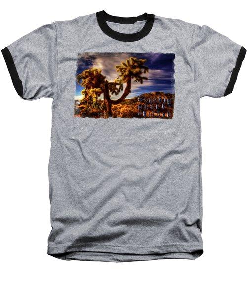 Jumping Cholla Cactus Baseball T-Shirt