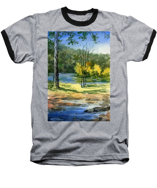 Junction Of White And Spring Rivers Baseball T-Shirt