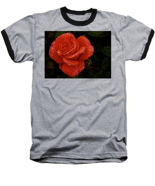 Baseball T-Shirt featuring the photograph June 2016 Rose No. 3 by Richard Cummings