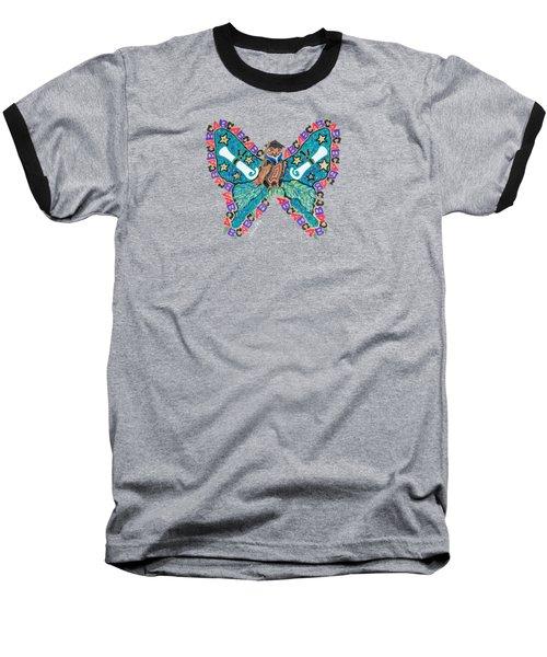 June Butterfly Baseball T-Shirt