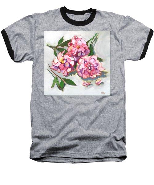 June Peonies Baseball T-Shirt by Susan Thomas