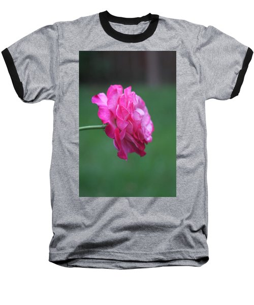 Baseball T-Shirt featuring the photograph June Rose by Vadim Levin