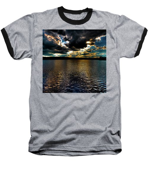 Baseball T-Shirt featuring the photograph June Sunset On Nicks Lake by David Patterson