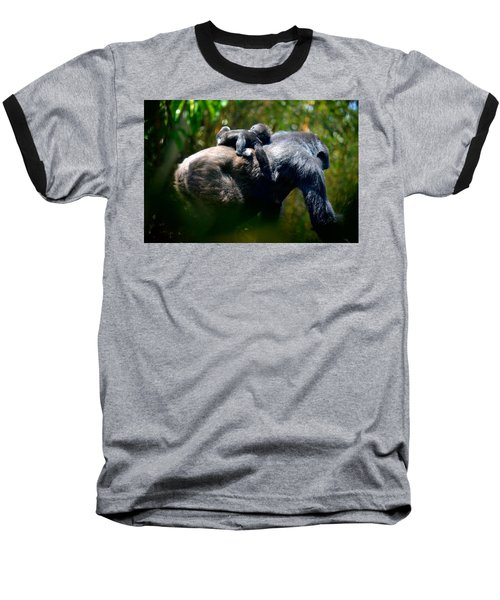 Jungle Baby Hitch Hiker Baseball T-Shirt by Lori Seaman