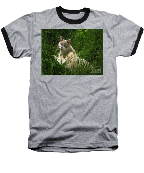 Jungle Cat Baseball T-Shirt by Sandy McIntire