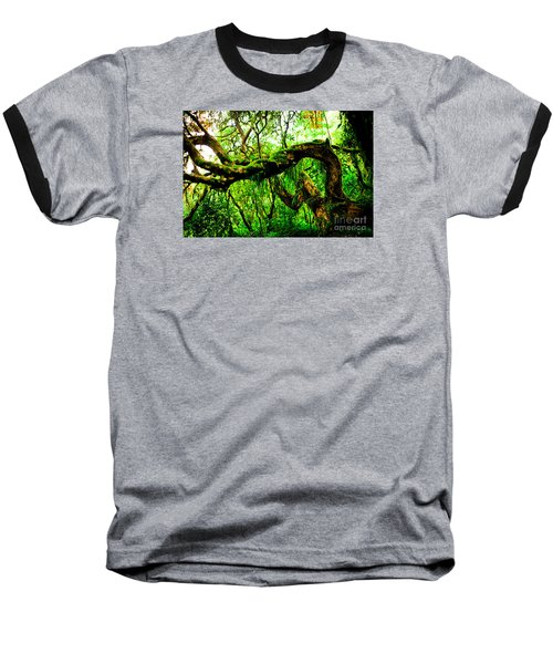 Jungle Forest Himalayas Mountain Nepal Baseball T-Shirt