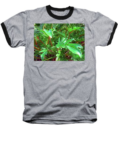 Baseball T-Shirt featuring the photograph Jungle Greenery by Ginny Schmidt