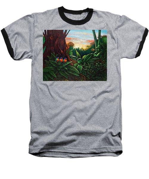 Jungle Harmony 3 Baseball T-Shirt