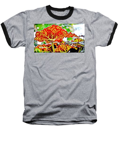 Baseball T-Shirt featuring the photograph Jungle Leaf by Mindy Newman