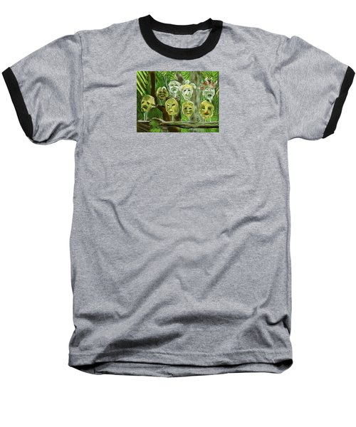 Jungle Spirits Baseball T-Shirt by Jean Pacheco Ravinski