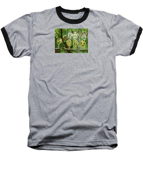 Baseball T-Shirt featuring the digital art Jungle Spirits by Jean Pacheco Ravinski