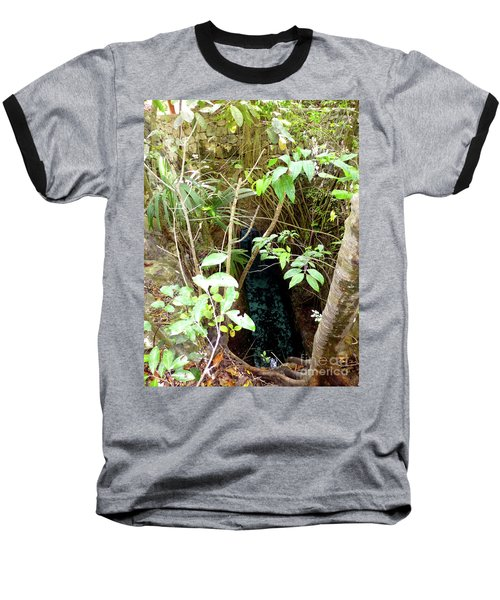 Baseball T-Shirt featuring the photograph Jungle Stream by Francesca Mackenney