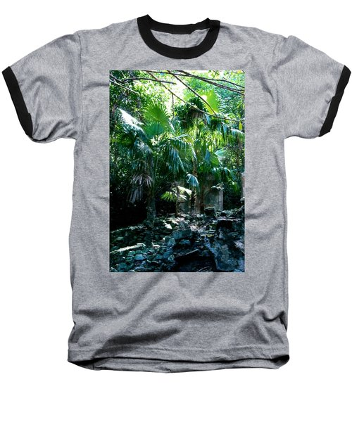Jungle Sun  Baseball T-Shirt by Robert Nickologianis