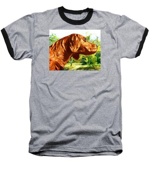 Junior's Hunting Dog Baseball T-Shirt by Timothy Bulone