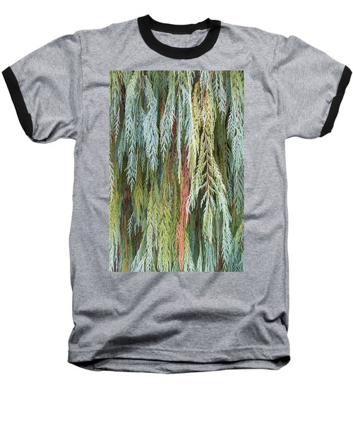 Baseball T-Shirt featuring the photograph Juniper Leaves - Shades Of Green by Ben and Raisa Gertsberg