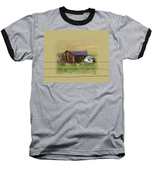 Baseball T-Shirt featuring the painting Junk Truck by Susan Kinney