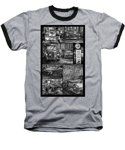 Junk Yard Cars Baseball T-Shirt