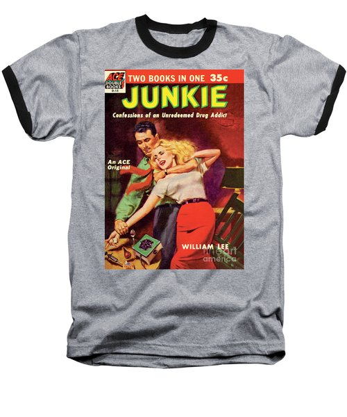 Baseball T-Shirt featuring the painting Junkie by Al Rossi