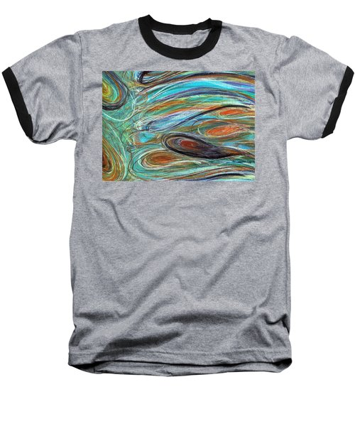 Jupiter Explored - An Abstract Interpretation Of The Giant Planet Baseball T-Shirt