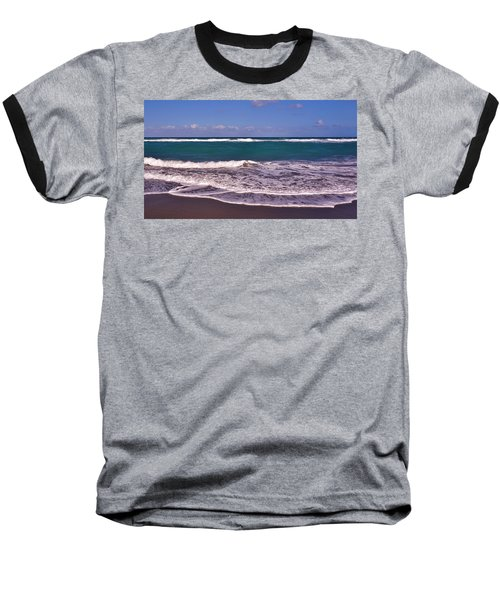 Jupiter Island Beach Baseball T-Shirt by John Wartman