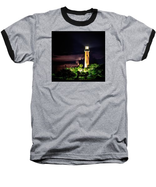 Jupiter Lighthouse Lightning Baseball T-Shirt