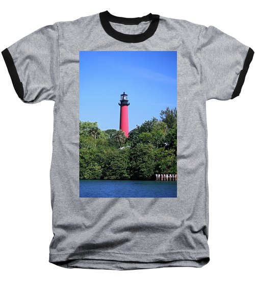 Jupiter Lighthouse Baseball T-Shirt by Sally Weigand