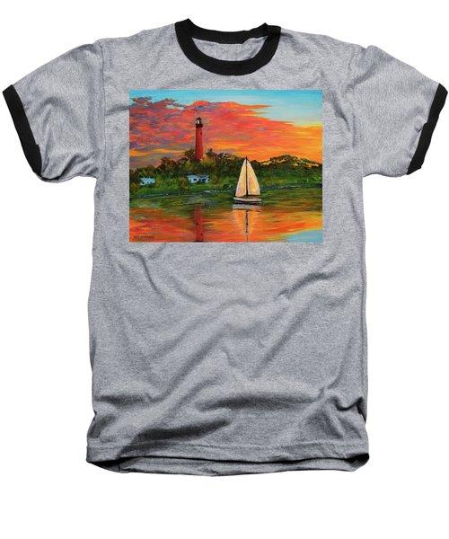 Jupiter Lighthouse Sunrise Alt Baseball T-Shirt