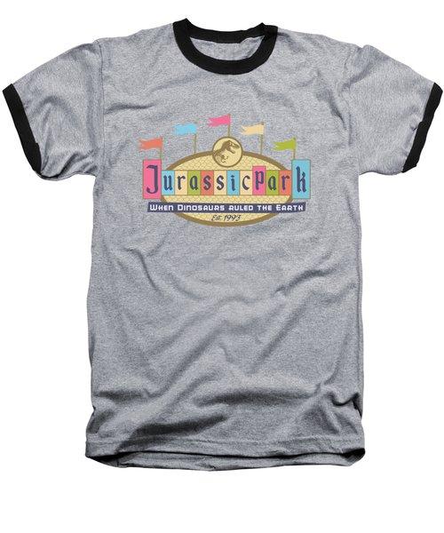 Jurassic Land Baseball T-Shirt