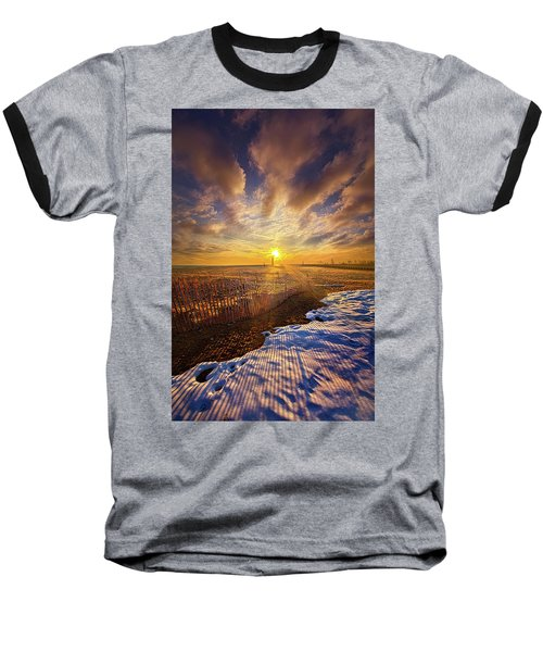 Baseball T-Shirt featuring the photograph Just A Bit More To Go by Phil Koch