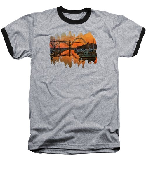 Just After Sunset On Yaquina Bay Baseball T-Shirt by Thom Zehrfeld