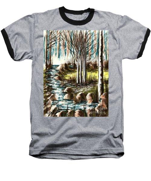 Just Around The Riverbend  Baseball T-Shirt