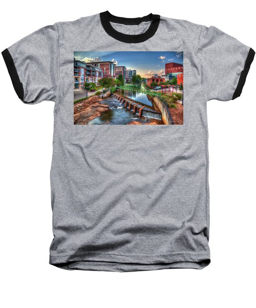 Just Before Sunset 2 Reedy River Falls Park Greenville South Carolina Art Baseball T-Shirt