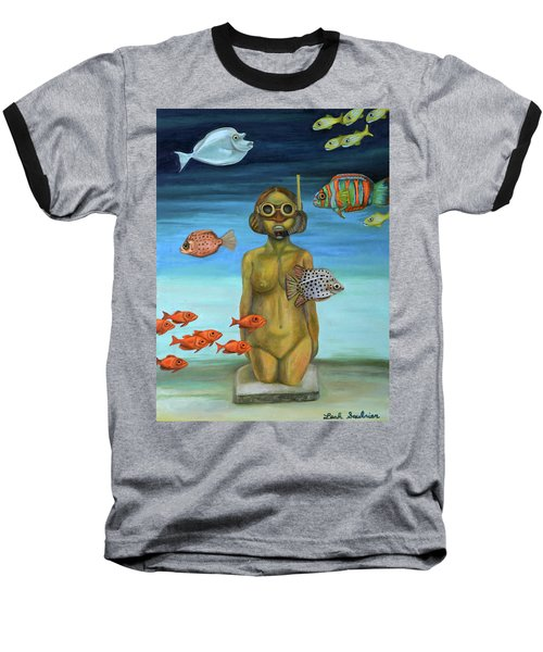 Just Breathe Baseball T-Shirt by Leah Saulnier The Painting Maniac