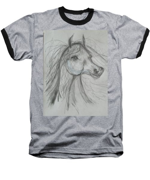 Baseball T-Shirt featuring the drawing Just Free by Sharyn Winters