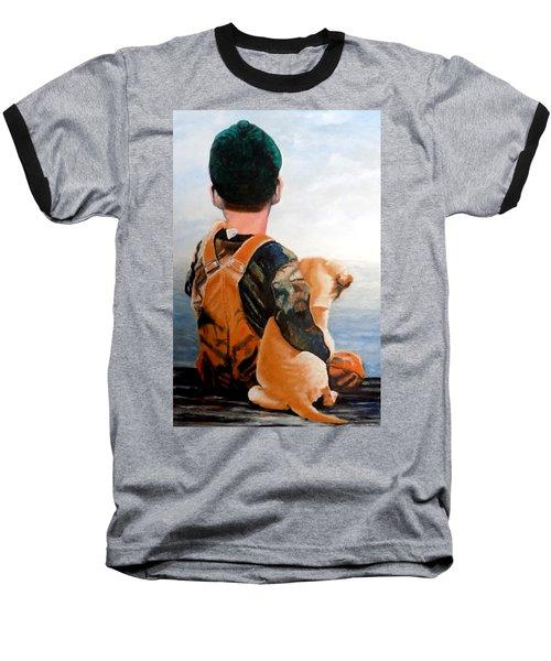 Just Hanging Out Baseball T-Shirt by Maris Sherwood