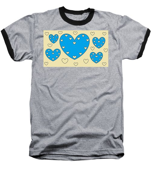 Just Hearts 4 Baseball T-Shirt